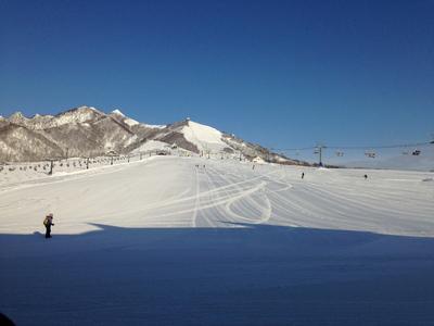 私はスキーに行ってきました
